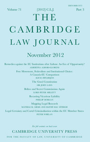 The Cambridge Law Journal Volume 71 - Issue 3 -