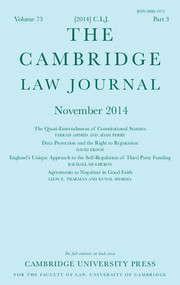 The Cambridge Law Journal Volume 73 - Issue 3 -