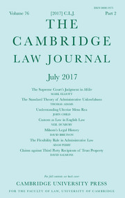 The Cambridge Law Journal Volume 76 - Issue 2 -