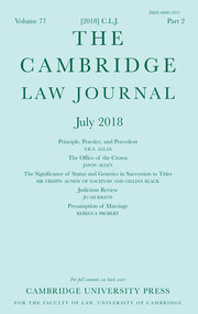 The Cambridge Law Journal Volume 77 - Issue 2 -