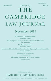 The Cambridge Law Journal Volume 78 - Issue 3 -