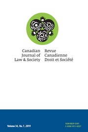 Canadian Journal of Law and Society / La Revue Canadienne Droit et Société Volume 34 - Issue 1 -