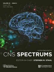 CNS Spectrums Volume 23 - Issue 4 -