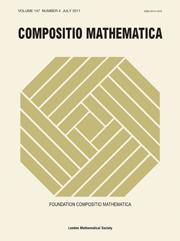 Compositio Mathematica Volume 147 - Issue 4 -