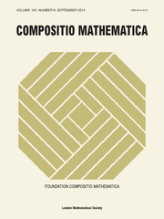 Compositio Mathematica Volume 150 - Issue 9 -