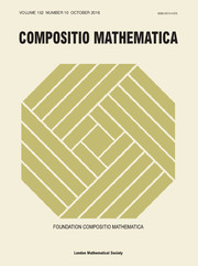 Compositio Mathematica Volume 152 - Issue 10 -