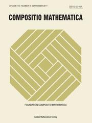 Compositio Mathematica Volume 153 - Issue 9 -