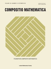 Compositio Mathematica Volume 155 - Issue 10 -