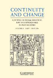 Continuity and Change Volume 21 - Issue 1 -