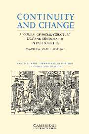 Continuity and Change Volume 22 - Issue 1 -