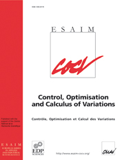 ESAIM: Control, Optimisation and Calculus of Variations