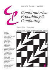 Combinatorics, Probability and Computing Volume 18 - Issue 3 -