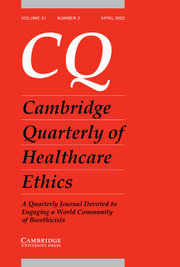 Cambridge Quarterly of Healthcare Ethics