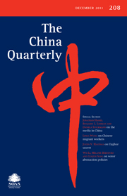 The China Quarterly Volume 208 - Issue  -