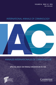 International Annals of Criminology Volume 56 - Special Issue1-2 -  Special Issue on Female Migration to ISIS