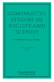 Comparative Studies in Society and History Volume 56 - Issue 4 -