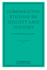 Comparative Studies in Society and History Volume 60 - Issue 3 -