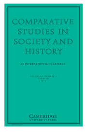 Comparative Studies in Society and History Volume 60 - Issue 4 -
