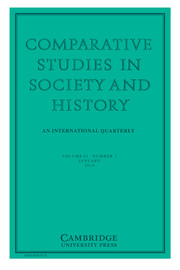 Comparative Studies in Society and History Volume 61 - Issue 1 -