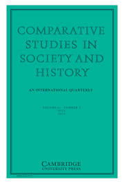 Comparative Studies in Society and History Volume 61 - Issue 3 -