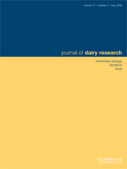 Journal of Dairy Research Volume 75 - Issue 2 -