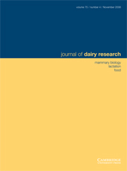 Journal of Dairy Research Volume 75 - Issue 4 -