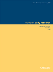 Journal of Dairy Research Volume 76 - Issue 1 -