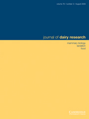 Journal of Dairy Research Volume 76 - Issue 3 -