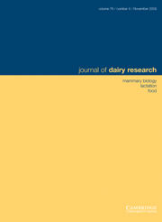 Journal of Dairy Research Volume 76 - Issue 4 -