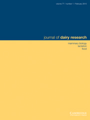 Journal of Dairy Research Volume 77 - Issue 1 -