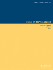 Journal of Dairy Research Volume 77 - Issue 3 -