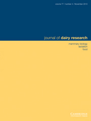 Journal of Dairy Research Volume 77 - Issue 4 -