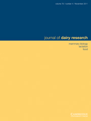 Journal of Dairy Research Volume 78 - Issue 4 -