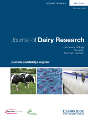 Journal of Dairy Research Volume 79 - Issue 2 -