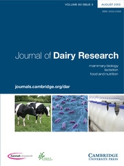 Journal of Dairy Research Volume 80 - Issue 3 -
