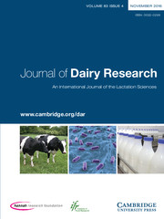 Journal of Dairy Research Volume 83 - Issue 4 -