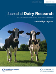 Journal of Dairy Research Volume 87 - Issue 1 -