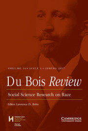 Du Bois Review: Social Science Research on Race Volume 14 - Issue 1 -