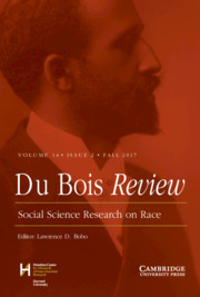 Du Bois Review: Social Science Research on Race Volume 14 - Issue 2 -