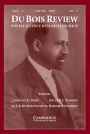 Du Bois Review: Social Science Research on Race Volume 6 - Issue 1 -
