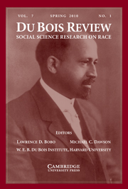 Du Bois Review: Social Science Research on Race Volume 7 - Issue 1 -