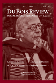 Du Bois Review: Social Science Research on Race Volume 7 - Issue 2 -