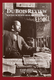 Du Bois Review: Social Science Research on Race Volume 9 - Issue 2 -