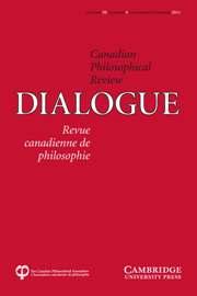 Dialogue: Canadian Philosophical Review / Revue canadienne de philosophie Volume 50 - Issue 4 -