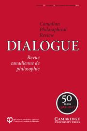 Dialogue: Canadian Philosophical Review / Revue canadienne de philosophie Volume 51 - Issue 3 -