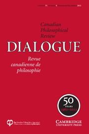 Dialogue: Canadian Philosophical Review / Revue canadienne de philosophie Volume 51 - Issue 4 -