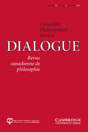 Dialogue: Canadian Philosophical Review / Revue canadienne de philosophie Volume 52 - Issue 2 -
