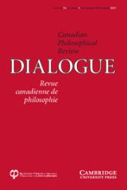 Dialogue: Canadian Philosophical Review / Revue canadienne de philosophie Volume 54 - Issue 3 -