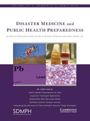 Disaster Medicine and Public Health Preparedness Volume 10 - Issue 2 -