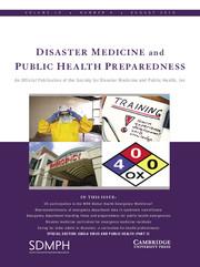 Disaster Medicine and Public Health Preparedness Volume 10 - Issue 4 -